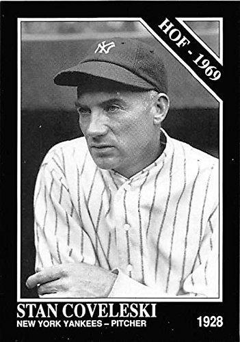 Stan Coveleski baseball card (New York Yankees Hall of Fame 1969) 1992 Sporting News Conlan Collection #462
