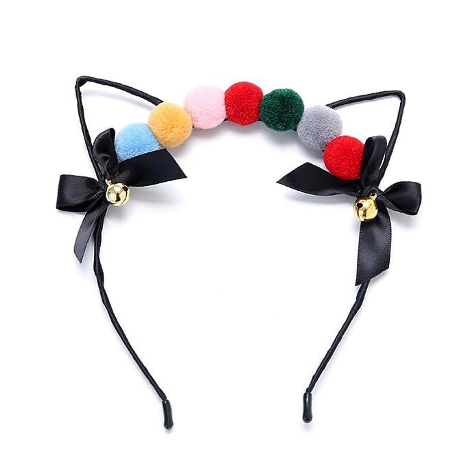 Katzenohren Haarreif Katzen Ohren Kostüm Fasching  Haar Damen Band Stirnbänder