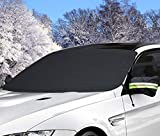 """Windshield Snow Cover, AUPERTO Ice Removal Visor Protector 58"""" x 32"""" with Mirror Cover Winter Summer Auto Shade (Best for Sedan)"""