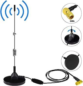 DAB+ Antena de Radio Digital Para Coche SMA Adaptador de Antena con Potente Soporte Magnético Universal cable de Extensión 3M para DAB AM/FM Radio de ...