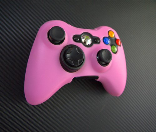 One Piece 1x FOR Xbox 360 Remote Controller Silicon Protective Skin Case Cover -Light Pink Color (Xbox 360 Remote Skins)