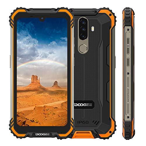 DOOGEE S58 Pro IP68 impermeable Smartphone, 5.71″ HD +, 6GB + 64GB, Android 10, 16MP + 16MP Cámara 5180mAh Batería, Octa core Rugged 4G Teléfono móvil, NFC/huellas dactilares/GPS /Dual SIM (Naranja)
