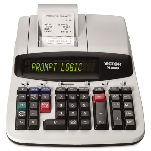 Victor PL8000 One-Color Prompt Logic Printing Calculator, Black Print, 8 Lines/Sec by Victor