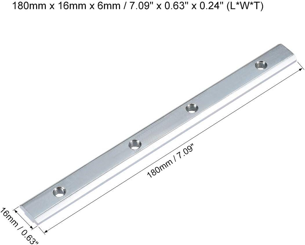 Soporte de Uni/ón con Tornillos para Perfil de Extrusi/ón de Aluminio Serie 2020-2 piezas sourcing map Conector de L/ínea Recta