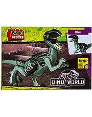 Bingo Dino World Blue T-Rex Action Figure Shaped Building Blocks Toy - 2725450587205