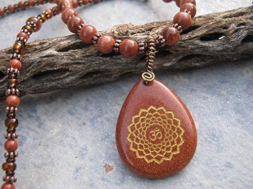 Goldstone Pendant Necklace - 20