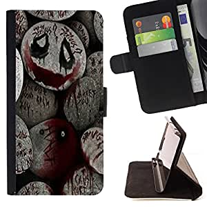 - Halloween Spooky Blood Monster Pumpkin - - Prima caja de la PU billetera de cuero con ranuras para tarjetas, efectivo desmontable correa para l Funny HouseFOR Apple Iphone 5 / 5S