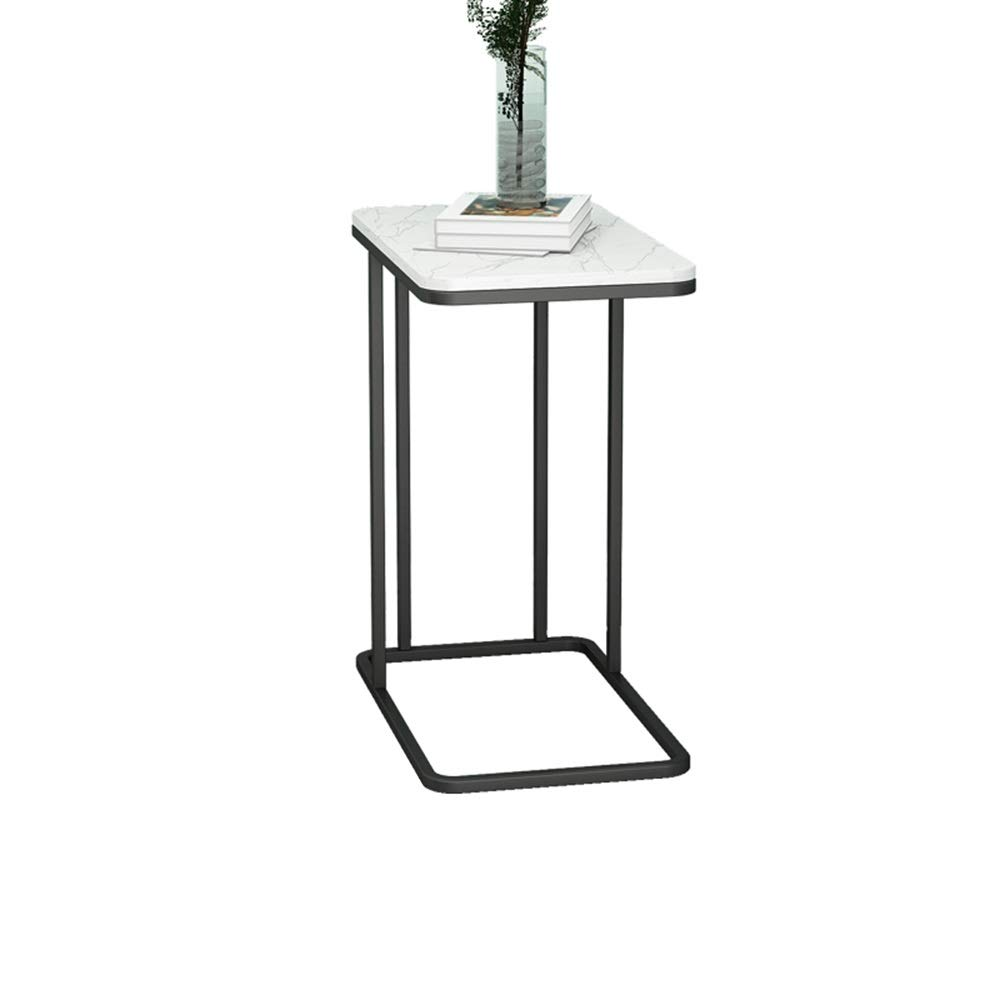 Marble Black Coffee Table Coffee Table, Marble Countertop Sofa Side Table Type C Accent Table Multifunction Telephone Table for Living Room Balcony (color   Iron, Size   gold)