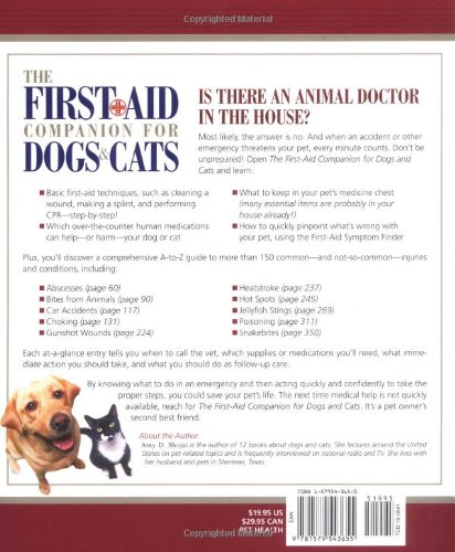 Amazon The First Aid Companion For Dogs Cats Prevention Pets