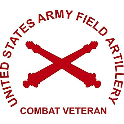 U S Army Field Artillery Combat Vet 3 Mil Vinyl Sticker for Car and Truck Window: Automotive