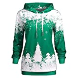 Women Hoodie, Shybuy Christmas Women Snowflake Print Pullover Hooded Sweatshirt Long Sleeve T-Shirt