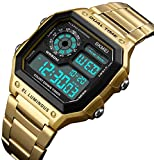 Men's Luxury Digital Quartz Waterproof Wrist Watches Dual Time Countdown Alarm Stopwatch Backlight Multi-function Watch
