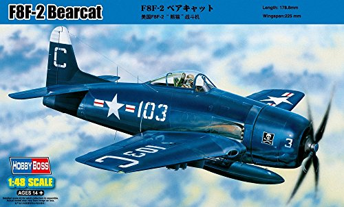Hobby Boss F8F-2 Bearcat Airplane Model Building Kit, used for sale  Delivered anywhere in USA