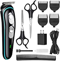 Hair Clipper for Men Professional Cordless Clippers Rechargeable Electric Hair Trimmer Beard Trimmer Kit for Kid and...