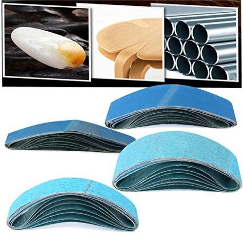 #004 7pcs 60//120 Grit Sanding Belts 914mm x 50//100mm Zirconia Abrasive Sanding Belts COD