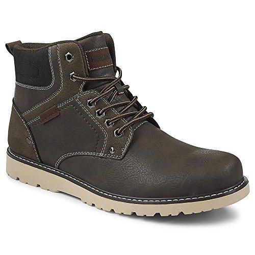 Highland Creek Mens Denver Lace Up Hiking Boot Shoes, Dark Grey, US 9