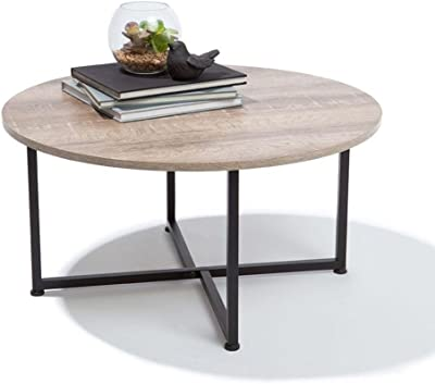 Shop Sting Modern Industrial Round Wooden Coffee Table