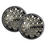 2x V-Spec 7 Premium LED Headlight Conversions - Black 55078149AC CH2502175 6012,H6014,6015,H6016,H6017,H6024,H6026