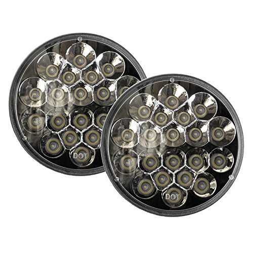 "2x V-Spec 7"" Premium LED Headlight Conversions - Black 55078149AC CH2502175 6012,H6014,6015,H6016,H6017,H6024,H6026"