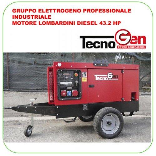 Grupo electrógeno tecnogen lw35000t 34, 7 kVA Max Motor Lombardini ...