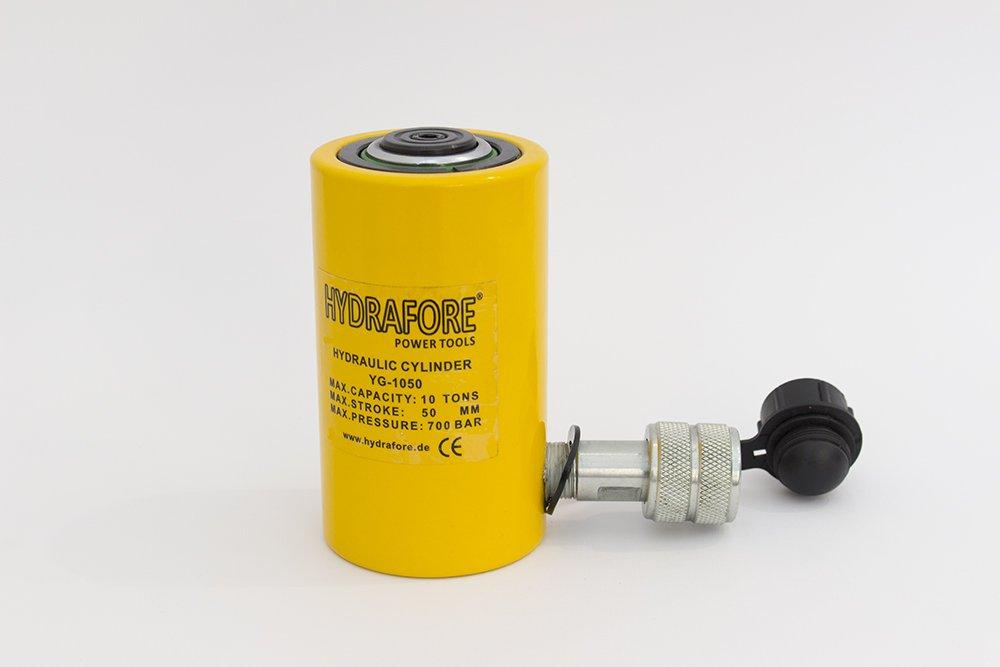 10 tons 2'' stroke Single Acting Hydraulic Cylinder Lifting Jack Ram YG-1050 by HYDRAFORE (Image #1)