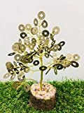 Zaicus Feng Shui Chinese Tree Coin Money Tree Good Luck Energy Generator for Reiki Healing Spiritual Gift Chakra with Crystal Point Gemstone & EMF Protection Size : 7-8 Inch