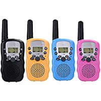 EIGIIS Kids Walkie Talkies 3KM Long Range with 22 Channel 2 Way Radios lashlight VOX Function Christmas Toys for Children Outdoor Camping Hiking