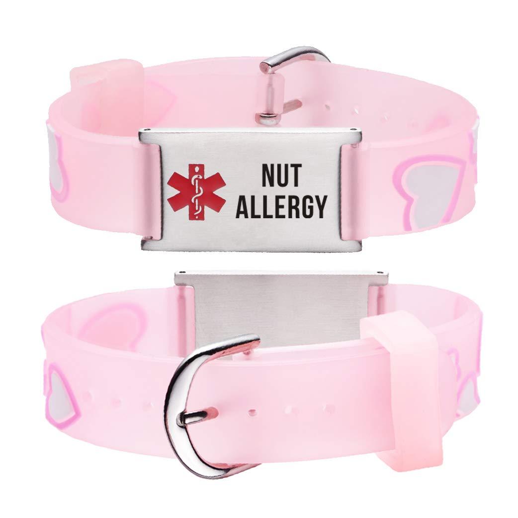 linnalove Cartoon Medical Alert id Bracelets for boy & Girls,Kids