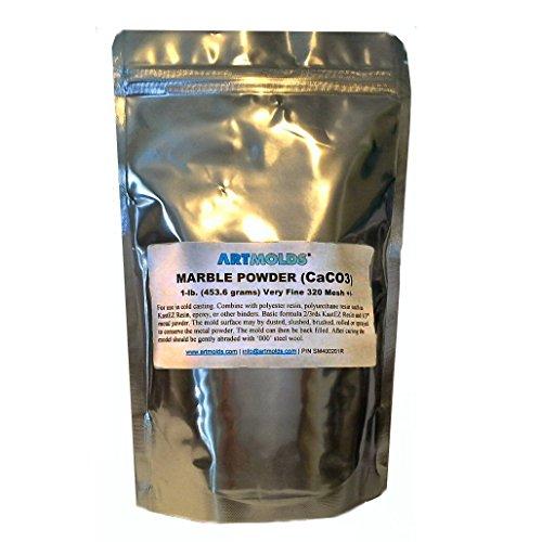Marble Powder 325-mesh 1-lb (454 grams) by ArtMolds LLC