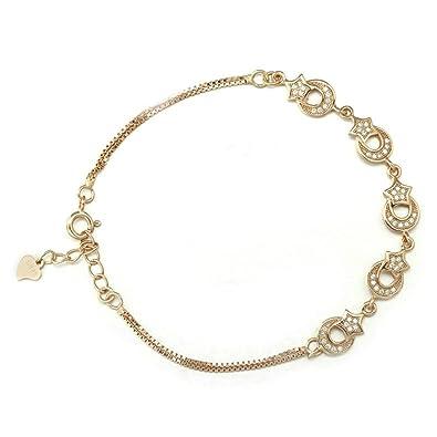 7866e25017c3 BeyDoDo Modeschmuck S925 Silber Armband für Damen Zirkonia Mond ...