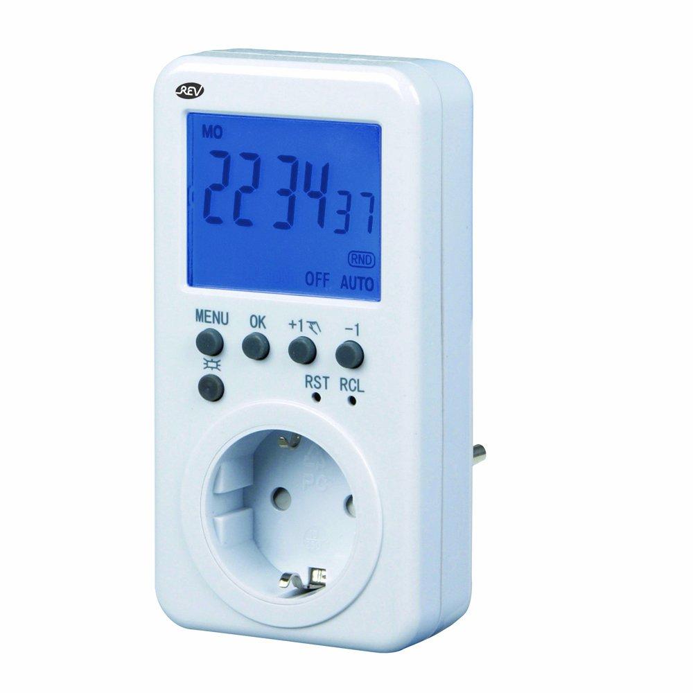 REV 0025500103 Blanco Daily/Weekly timer contador eléctrico - Temporizador (Daily/Weekly timer