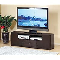 Smart Home 60 Inch TV Stand Custom Wooden Modern Entertainment Console (Red Cocoa (Espresso))