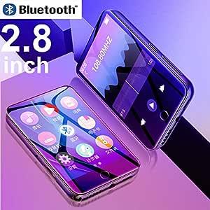 New Metal Ruizu M7 Full Touch Screen Bluetooth MP3 Player 8GB 16GB HiFi Music Player with FM Radio E-Book Video Built-in Speaker (16GB, Black)