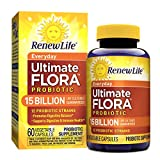 Renew Life Adult Probiotic - Ultimate Flora Everyday Probiotic, Shelf Stable Probiotic Supplement - 15 Billion - 60 Vegetable Capsules