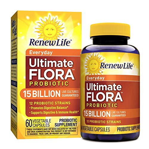 Renew Life – Ultimate Flora Probiotic Everyday – 15 billion – 60 vegetable capsules