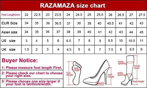 RAZAMAZA Zapatos Mujer con de Silver Bajo Tacon Para Hebilla qqrfd