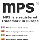 MPS® EUROPE Classic Titanium Magnetic Bracelet with Fold-Over Clasp, Powerful 3,000 gauss Magnets + Free Gift Wallet + FREE Links Removal Tool Bild 3