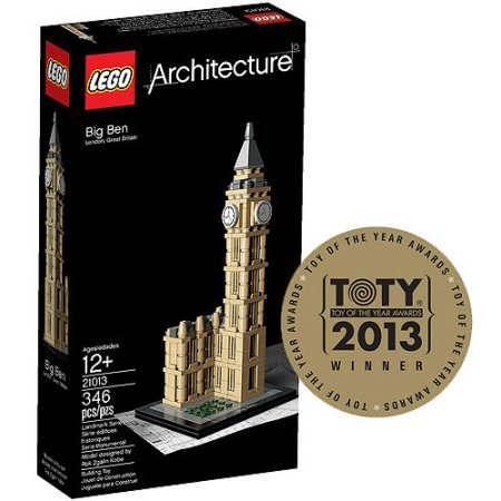 LEGO Architecture UK Big Ben Building Set, 346 pieces