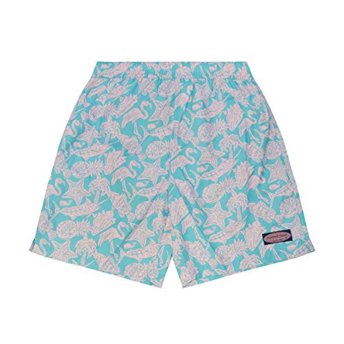 Vineyard Vines Mens Chappy Swim Trunks (Island Stripe Jake Blue, XX-Large)