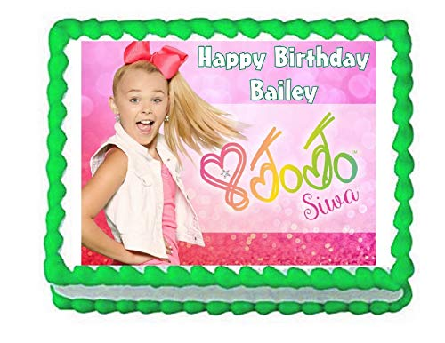 Price comparison product image Cakes for Cures JoJo Siwa Party Edible Cake Image Cake Topper Frosting Sheet Decoration
