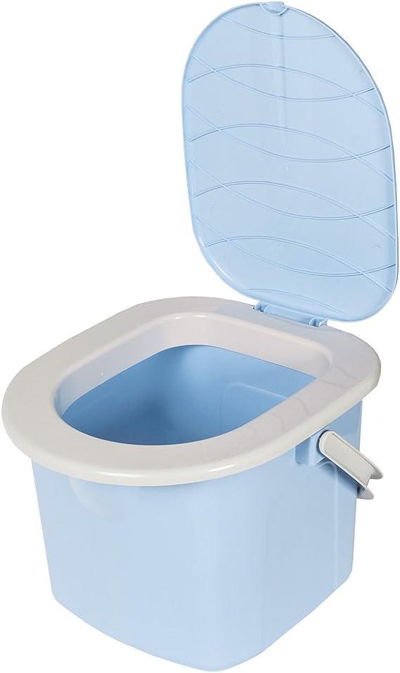 BranQ - inodoro WC Cubo de viaje, 15,5 l camping (azul ...