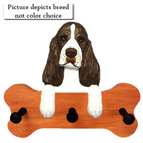 (Michael Park Black English Springer Spaniel Bone Hang Up Maple Finish)