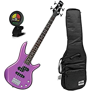 ibanez gio gsrm20mpl metallic purple 28 6 scale 4 string bass guitar w tuner. Black Bedroom Furniture Sets. Home Design Ideas