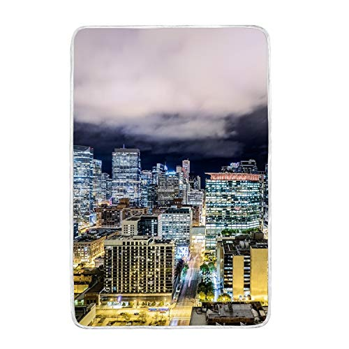 Exposition Sofa - PQFLICS Chicago Night City Skyscrapers Exposition Print Throw Blanket Comfort Design Home Decoration Lightweight Blanket for Kids Boys Women Men Perfect for Couch Sofa or Travelling