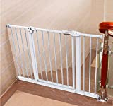 Child safety gates Stair Barrier Baby and Pet Gate Extendable Auto Close Two Directions Pressure Mount Fits Spaces Between 66-194cm Size  95-104cm