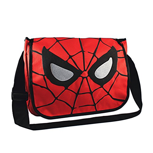 Silver Buffalo MC7001 Marvel Spider-Man Eyes 15-Inch by 12-Inch Messenger Bag, Multi-Color ()