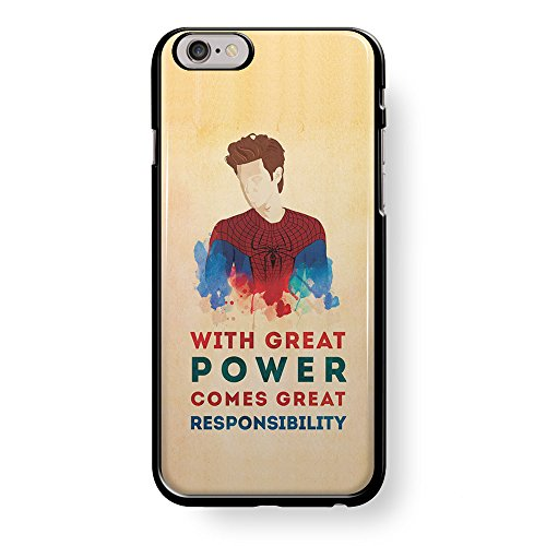 Spiderman Quote Great Power Great Responsibility s4 for iPhone 6/6s Black case