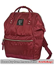 Japan Anello HD NYLON LARGE RED Waterproof Backpack Unisex Rucksack Bag Campus