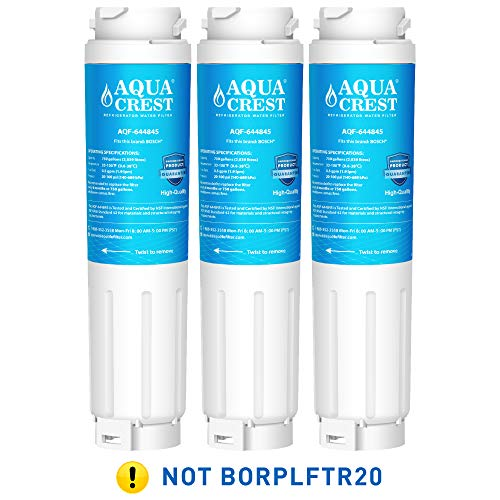 AQUACREST 644845 Refrigerator Water Filter, Compatible with Bosch Ultra Clarity 644845, 9000194412, 9000077104, Miele KWF1000, Haier 0060820860, 0060218743 (Pack of (Best Haier Refrigerator Water Filters)