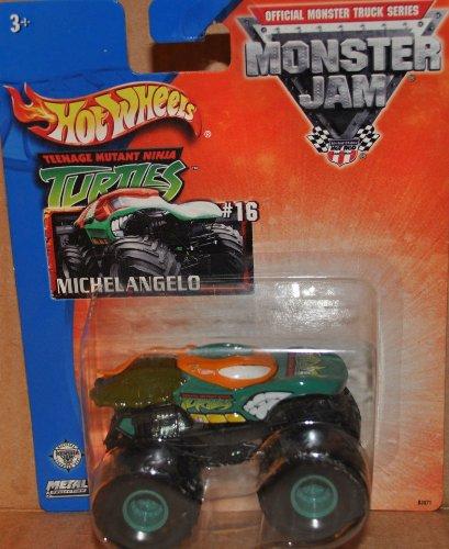 (Hot Wheels 2003 monster jam ninja turtle michael angelo monster truck)